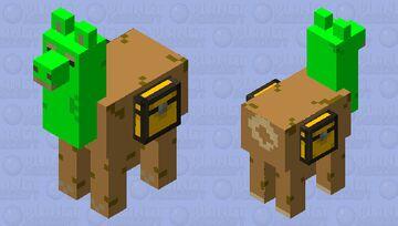 Grass Block Llama Minecraft Mob Skin