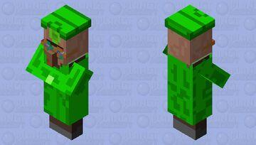 The Emerald Trader(Really bad mob skin) Minecraft Mob Skin