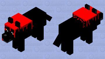 Kawaii Dark Wolf Minecraft Mob Skin