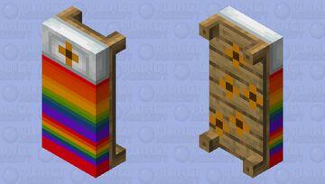Rainbow Flower bed Minecraft Mob Skin