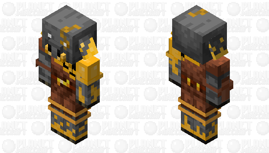 Gold Infected Piglin Minecraft Skin