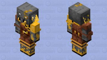Gold Infected Piglin Minecraft Mob Skin