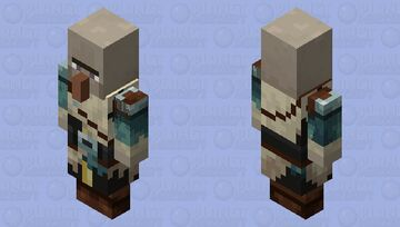 Witch(Snow)(Captain) Minecraft Mob Skin