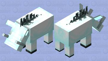 Frosted Hoglin Minecraft Mob Skin