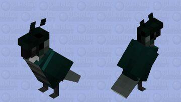 turquoise green cheek conure Minecraft Mob Skin