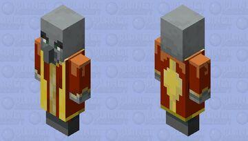 Fire WIzard Evocker Minecraft Mob Skin