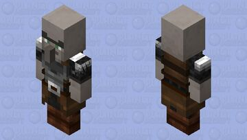 Dillage / profession of guard / with arms apart / level 1 Minecraft Mob Skin