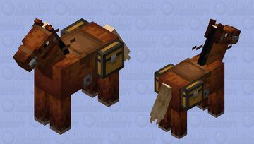 This horse is totaly not for homeshcooling pourpuses Minecraft Mob Skin