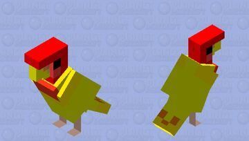 Coco the lovebird Minecraft Mob Skin