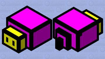 Endermite As A Yellow Head Minecraft Mob Skin