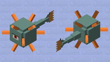 Simplistic Guardian Minecraft Mob Skin