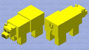 Golden Bear Minecraft Mob Skin