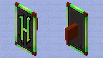 Bright Green Hypixel Logo Shield Minecraft Mob Skin