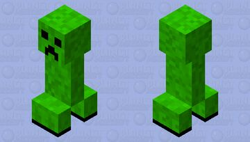 me trying to make the creeper Minecraft Mob Skin