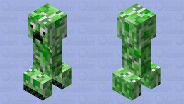 Stupid Creeper Minecraft Mob Skin