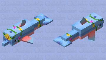 Flower Chains Dolphin Minecraft Mob Skin