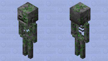 Mossy Stone Skeleton Minecraft Mob Skin
