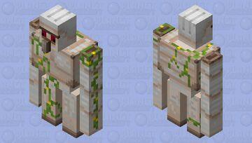 Opposite Eyelid Iron Golem Minecraft Mob Skin