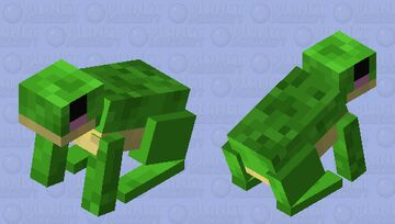 Cute Frog Rabbit Minecraft Mob Skin