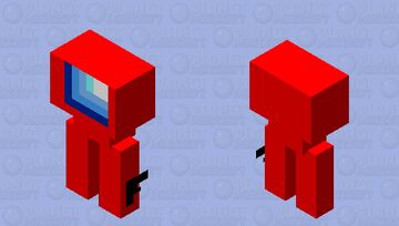 Among us imposter with gun Minecraft Mob Skin