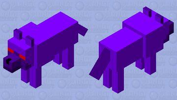 Void Wolf Minecraft Mob Skin