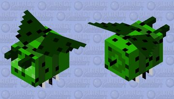 Cactus Bee (failed) Minecraft Mob Skin