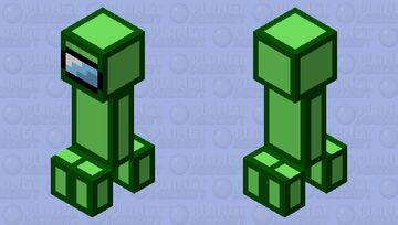 Day #4 of making mob skins everyday until school starts: Sus lime creeper Minecraft Mob Skin