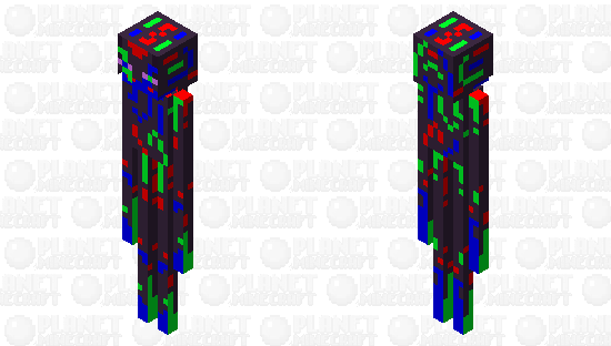 tw eyestrain glitch enderman Minecraft Skin