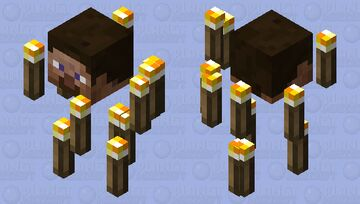 steve blaze with torch rods Minecraft Mob Skin