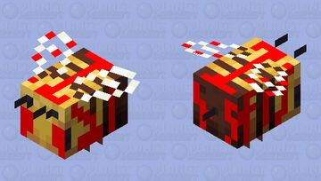 Blood.exe Bee Minecraft Mob Skin
