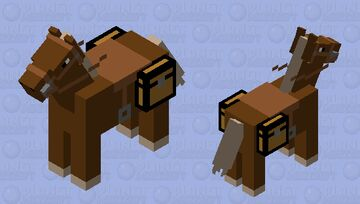 Simplistic Horse Minecraft Mob Skin