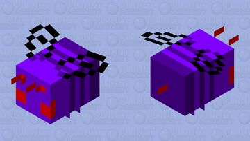 Angry Void Bee Minecraft Mob Skin