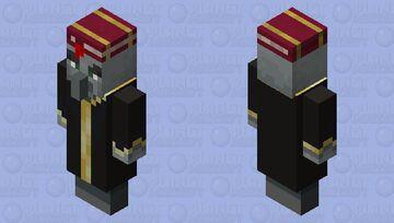 evoker wearing librarian hat Minecraft Mob Skin