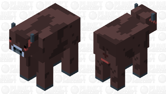 chocolate cow Minecraft Skin