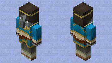 Day #1 of making a mob skin every day until school starts: BoTW Zelda Evoker Minecraft Mob Skin