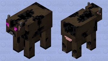The end corupted a cow Minecraft Mob Skin