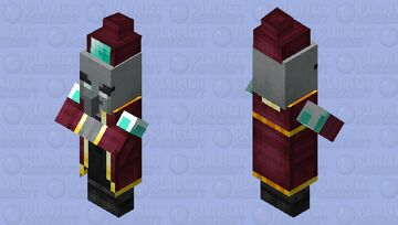 Enchanter / for Minecraft Dungeons / Remade Re-texturing / with hat Minecraft Mob Skin