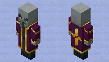 The Mage Illager (Retexture) (Variant 2) Minecraft Mob Skin