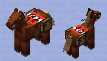 tnt saddled horse Minecraft Mob Skin