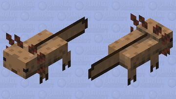 More Realistic Axolotl (Brown) Minecraft Mob Skin
