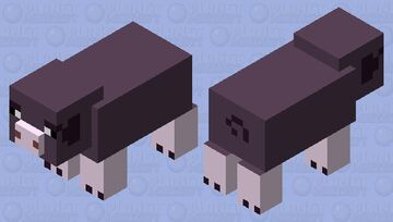 pink footed pig Minecraft Mob Skin