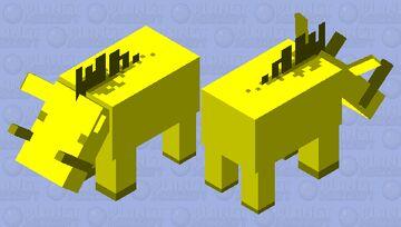 Golden Hoglin Minecraft Mob Skin
