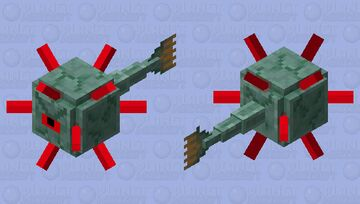 angry guardian Minecraft Mob Skin
