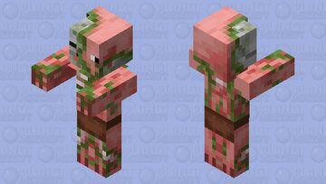 Zombie Pigman Minecraft Mob Skin