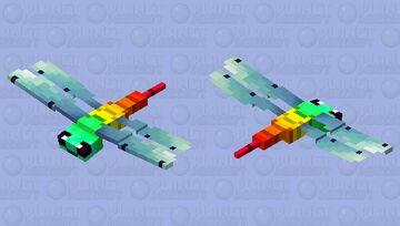 Prehistoric dragonfly (vanilla variation) (new style-with head) Minecraft Mob Skin