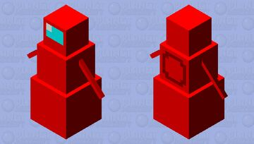 AmongUs RED Minecraft Mob Skin