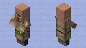 Cardboard Villager Minecraft Mob Skin