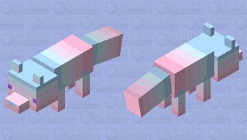 Pastel colored Fox Minecraft Mob Skin