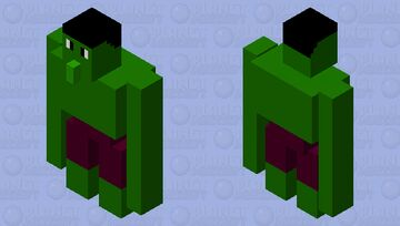 Marvel's Hulk Minecraft Mob Skin