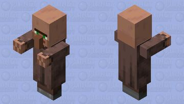 Villager Plains Unemployed With Arms 1.14 Minecraft Mob Skin